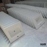 Lavabo Branco Acrílico Modern superfície contínua para Hotel (KKR-1375)