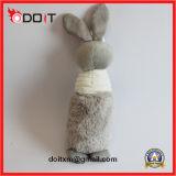 최고 튼튼한 연약한 장난감 견면 벨벳 토끼 개 장난감