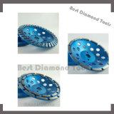 Roue de polissage de meulage d'abrasif de diamant en métal pour le marbre concret de pierre de granit de Mansory