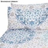Vintage Design Floral Prints Folha de cama de algodão