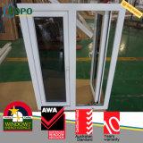 Casement vitrificado triplo Windows do PVC da prova litoral do furacão para a casa