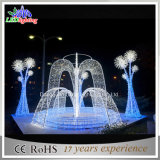 Im Freien Brunnen-Motiv-Lichter des Weihnachtsfeiertags-weißes Weihnachtenled 3D