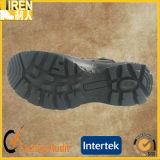 黒い本革の安い安全靴の憲兵の戦術的なブート
