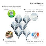 벽을%s 아름다운 물고기 패턴 목욕탕 회색 유리제 모자이크