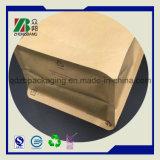 El fabricante de China se levanta la bolsa de papel Ziplock de Kraft para el empaquetado del té del café