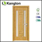 Дверь MDF стеклянной ванной комнаты дизайна интерьера деревянная (дверь MDF деревянная)