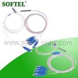 Divisor de acero del PLC del tubo Sc/Upc de FTTH 1*4