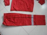 Ropa de trabajo de la producción de la fábrica, camisa y pantalones de encargo, tela de largo envuelta, opcional, estilo