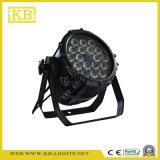 Luz de Palco 18 * 12W Lâmpada PAR LED impermeável