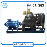 Bomba de agua gradual horizontal del aumentador de presión del motor diesel del arrabio