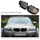 Il nero anteriore di lucentezza delle griglie con la griglia gialla rossa della decorazione di colore per BMW E60/E61 2003-2009