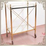 Het Meubilair van het Roestvrij staal van het Karretje van de Kar van de Alcoholische drank van het karretje (RS150503)