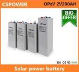 Batería de plomo de la larga vida de Opzv 2V200ah de la batería solar de la UPS de la batería de la batería estupenda del gel