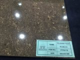 커피 색깔 수정같은 돌 Polished 사기그릇 지면 도와 또는 도기 타일 (VPP6011, 600X600mm)