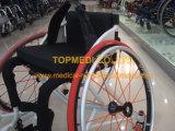 El manual al aire libre de aluminio de gama alta de Topmedi se divierte el sillón de ruedas del baloncesto