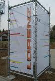Baugerüst-Ineinander greifen-Deckel, riesige Gebäude-Verpackungs-Ineinander greifen-Fahne