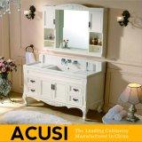 Muebles de baño de madera sólidos blancos vendedores calientes del cuarto de baño de la vanidad del cuarto de baño del estilo (ACS1-W11)