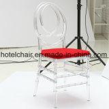빨간 방석을%s 가진 Chiavari 도매 수정같은 의자