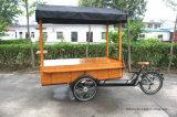セリウムが付いている上のキャンバスの荷車引きのバイク