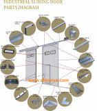 Puerta Deslizante Industrial con la Pequeña Puerta del Hombre