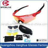Les lunettes de soleil faites sur commande de sport de mode de nouveauté viennent avec le cru dur de cas d'EVA faisant un cycle pilotant des glaces de Sun d'équitation