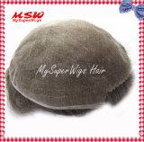 Il Toupee degli uomini su ordinazione svizzeri pieni del merletto (merletto francese)