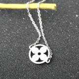 Collier simple de clavicule de fleurs de filles d'acier inoxydable de mode de bijou