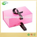Rigid Magnet Cardboard Packaging Gift Box com fita (CKT-CB-701)