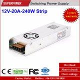 12V 20A 250W Streifen-Stromversorgung für LED-hellen Kasten