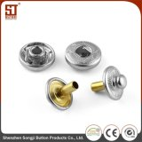 UE y nosotros botón individual redondo del broche de presión del metal de Monocolor