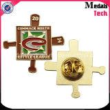 Pinos baratos feitos sob encomenda relativos à promoção chapeados ouro do Lapel do metal