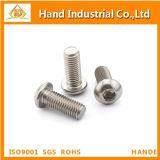 Tornillo de socket Hex de la venta ISO7380 M8*75 del acero inoxidable de la pista caliente del botón