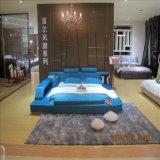Lederfarbenes Beige Lederne Sofa-Bett-Ausgangshotel-Möbel-Wohnzimmer-Schlafzimmer-Set-moderne Möbel, Fb3073 färben