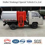 vrachtwagen van het Vervoer van de Levering van het Huisvuil van het Type van 4 Vat van 3cbm Foton Forland de Euro Hangende
