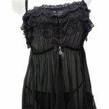 Vêtements de nuit sexy de Babydoll de maille de lacet de chemises de nuit fines de lingerie
