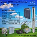 3inch pompa sommergibile solare centrifuga, sistema di pompaggio di CC di irrigazione