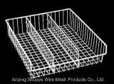 Cozinha sobre a cesta do armazenamento de fio do metal da porta de gabinete
