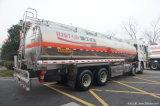 Petroleiros de alumínio do reboque do caminhão do armazenamento de combustível do petróleo cru com 50tons