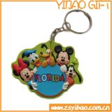 Lovely Cartoon Design PVC Keychain para presente promocional (YB-k-023)