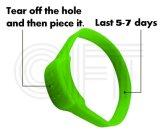 Il Cft per il braccialetto (blu) della cosa repellente della zanzara del silicone dei 5 fori