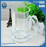 330ml de hoge Transparante Loodvrije Mok van het Bier van het Glas met Handvatten