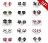 De gloednieuwe Zwarte ABS van de Stijl van Union Jack Plastic Knoop van het Slot van de Deur van het Chroom voor Mini Cooper F55 F56 F57 R55 R56 R60 (2 PCS/Set)