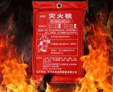 Seguridad de fuego extintora del supermercado usar la manta del rescate del fuego