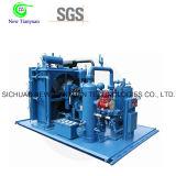 Gaz exempt d'huile réutilisant le compresseur à gaz de amplification de pression