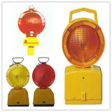 Voyant d'alarme solaire portatif de sécurité routière de circulation de la glissière de sécurité DEL