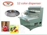 Máquina de gotejamento de cola de múltiplas cores em PVC de alta freqüência