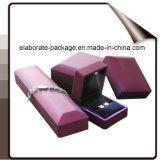 Caixa de jóia Stackable de madeira luxuosa com luz do diodo emissor de luz