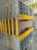 Pisadas de escalera Grating del Técnico-Tamiz T6 con Nosings abrasivo amarillo