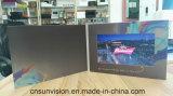 """Brochure de vidéo de carte de musique d'affichage à cristaux liquides emballage du papier en cuir 7 d'unité centrale """""""