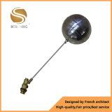 Mini válvula de flotador de cobre amarillo automática forjada modificada para requisitos particulares de bola del tanque de agua de la válvula de la buena calidad